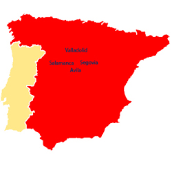 Salamanca Cartina.Salamanca Avila Valladolid E Segovia